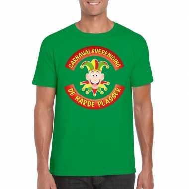 Fun t-shirt limburgse carnavalsvereniging groen voor heren
