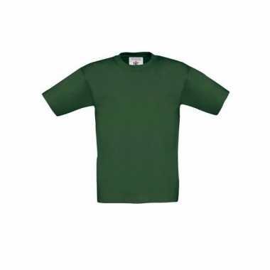 Kleding kinder t-shirt donkergroen