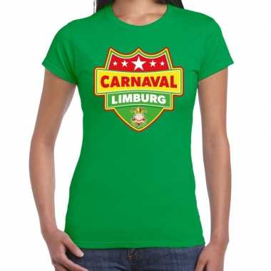 Limburg verkleedshirt voor carnaval groen dames