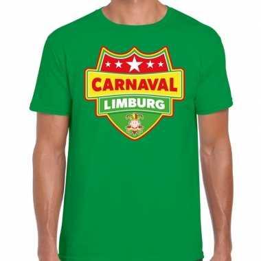 Limburg verkleedshirt voor carnaval groen heren