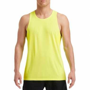 Sportkleding sneldrogend neon groen voor heren