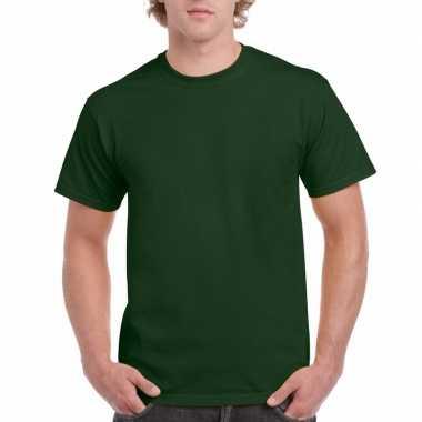 Voordelig donker groen t-shirt voor volwassenen