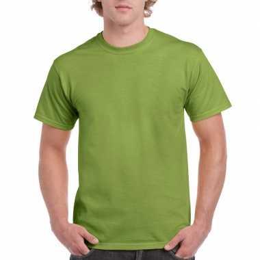 Voordelig kiwi groen t-shirt voor volwassenen