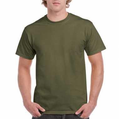 Voordelig leger groen t-shirt voor volwassenen