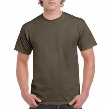 Voordelig olijf groen t-shirt voor volwassenen