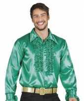 Groene rouche overhemd voor heren